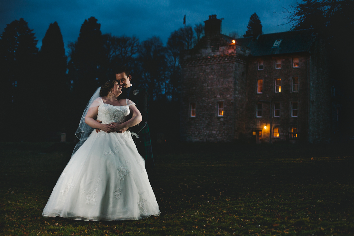 Rhona and Martyn Culcreuch Castle wedding photography
