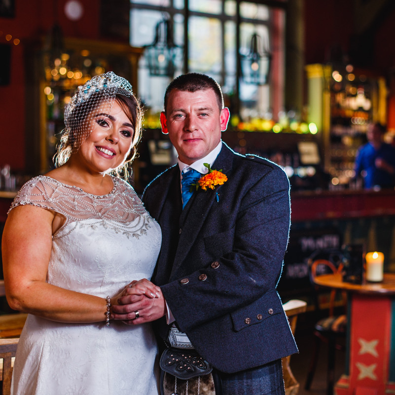 Cottiers Glasgow wedding photographer